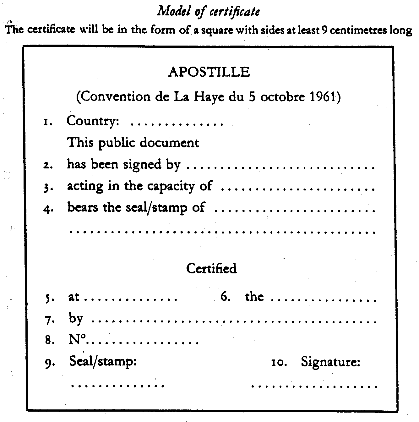 Hague In 1961 Hcch Such A Certified Document Is Called An